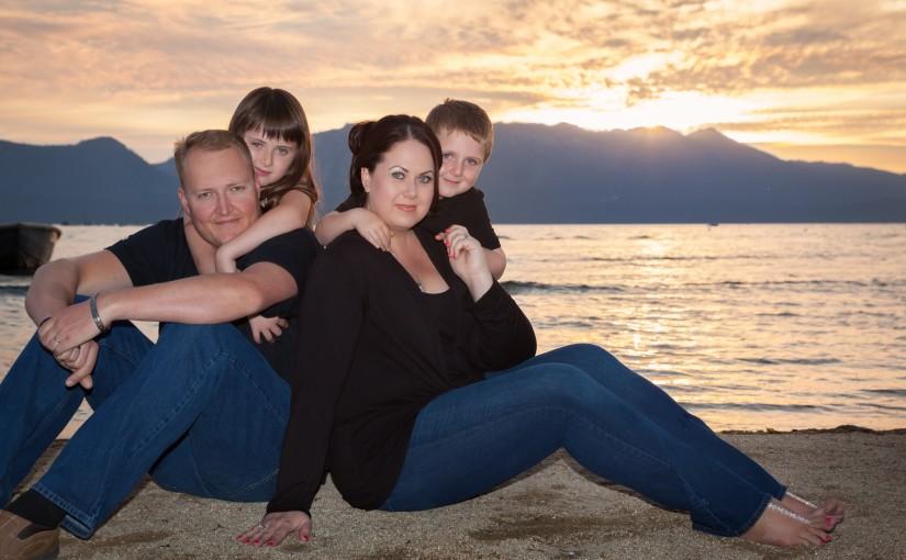 Lake Tahoe Family Portrait Session – Jonathan & Paulina's 10 year Wedding Anniversary