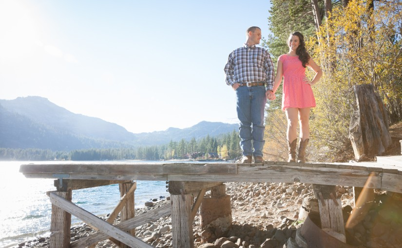 Patrick and Lisa's Mountain Engagement Session in Truckee