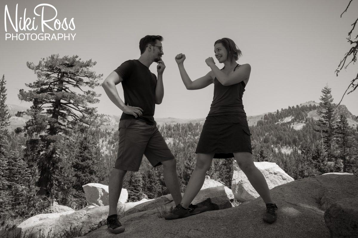 Truckee, CA. Hiking Engagement Session - nikirossphotography.com