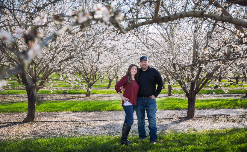 Almond Orchard Engagement Session with Meredith & Ryan