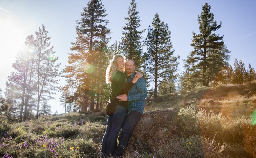 Chase & Kristine's Engagement Session at Boca Reservoir