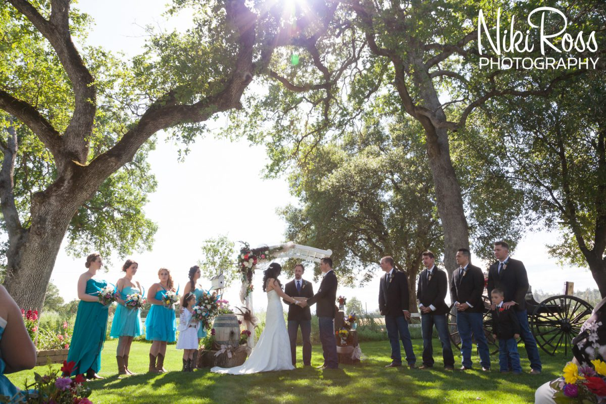 wedding day in Northern California